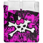 Punk Skull Princess Duvet Cover Double Side (California King Size)