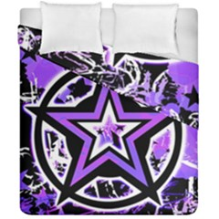 Purple Star Duvet Cover Double Side (California King Size) from UrbanLoad.com