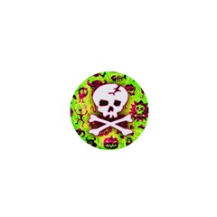 Deathrock Skull & Crossbones 1  Mini Magnet from UrbanLoad.com Front