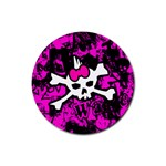 Punk Skull Princess Rubber Round Coaster (4 pack)