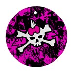 Punk Skull Princess Round Ornament (Two Sides)