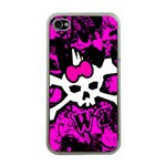 Punk Skull Princess Apple iPhone 4 Case (Clear)
