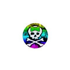 Rainbow Skull 1  Mini Magnet from UrbanLoad.com Front