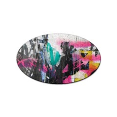 Graffiti Grunge Sticker Oval (100 pack) from UrbanLoad.com Front