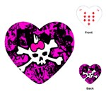 Punk Skull Princess Playing Cards Single Design (Heart)