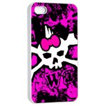 Punk Skull Princess iPhone 4/4s Seamless Case (White)