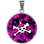 Punk Skull Princess 30mm Round Necklace