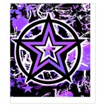 Purple Star Duvet Cover Double Side (California King Size) from UrbanLoad.com Back