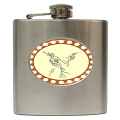 Sea dragon Hip Flask (6 oz) from UrbanLoad.com Front