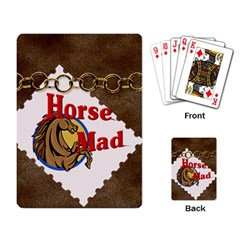 Horse mad Playing Cards Single Design from UrbanLoad.com Back