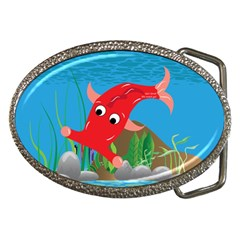 Red Hammie Fish Belt Buckle from UrbanLoad.com Front