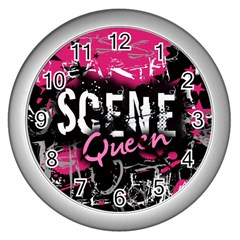 Scene Queen Wall Clock (Silver) from UrbanLoad.com Front