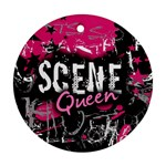 Scene Queen Round Ornament (Two Sides) from UrbanLoad.com Back