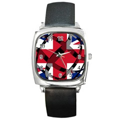 United Kingdom Square Metal Watch from UrbanLoad.com Front